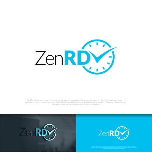 ZEN RDV or ZEND Rendezvauz logo for meeting agenda