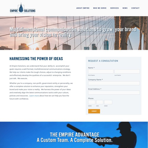 Squarespace website for Consulting Group