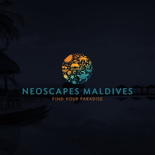 logo for a travel company in the Maldives