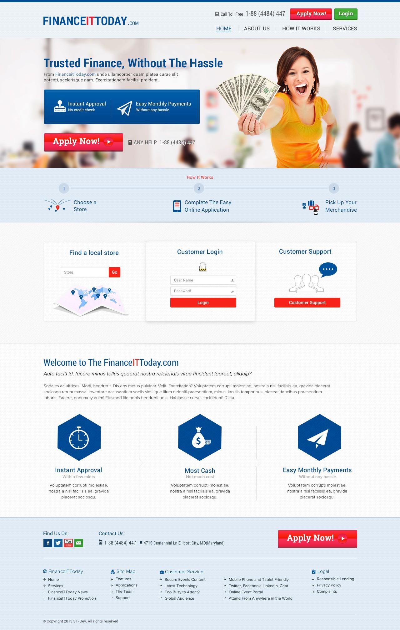 website design for FinanceItToday.com