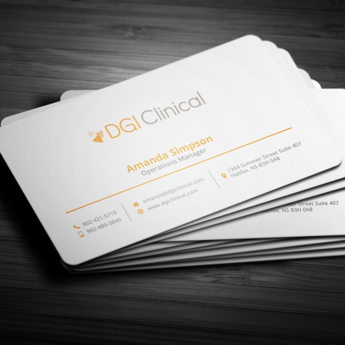 "Business card design for ""DGI Clinical"""