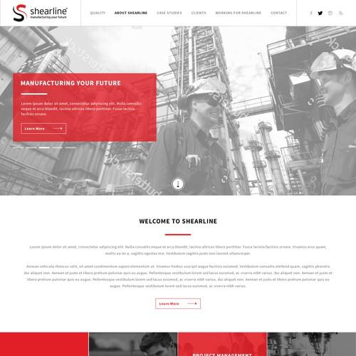Shearline Engineering homepage design.