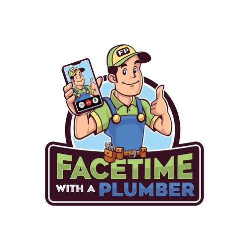 Facetime with a Plumber Logo Design