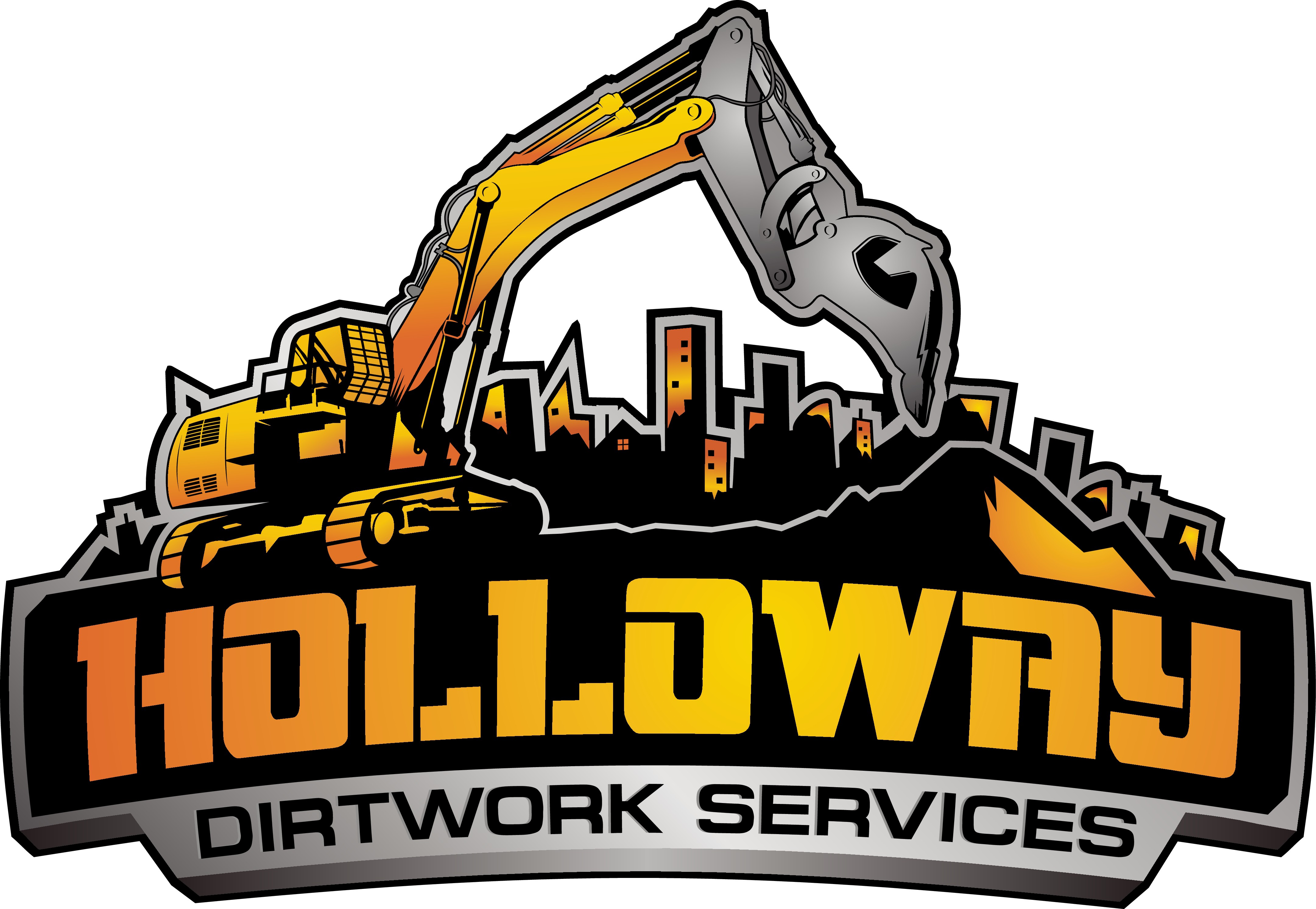 Create a capturing illustration for a rugged Dirtwork company!