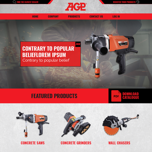 Web Page Design for AGP
