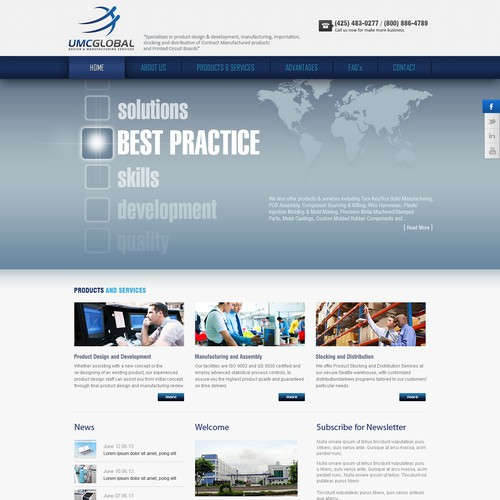 Help UMC Global Inc with a new website design