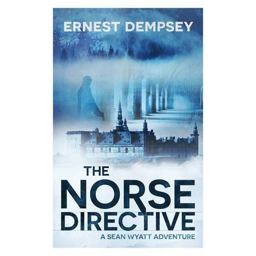 Create an exciting  cover for an up-tempo action/adventure thriller.