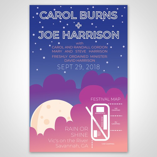 Festival-Inspired Poster Design for a Wedding