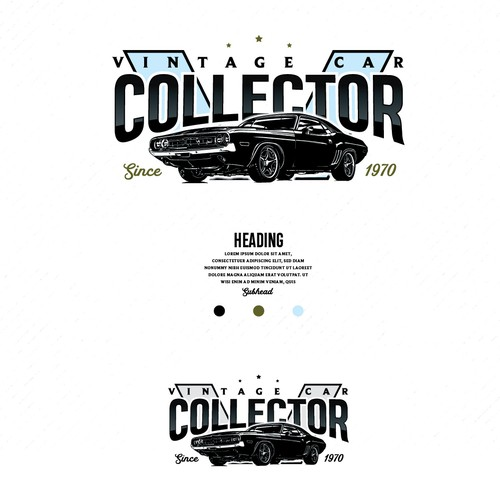 Vintage Car collector logo