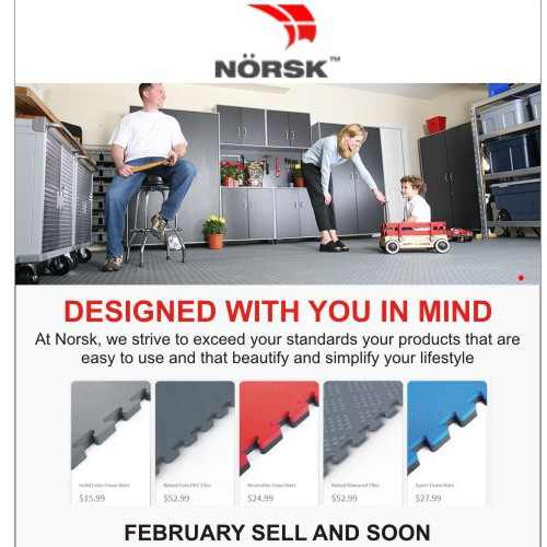 Create an Email Blast for a 10% Off Flooring Promo