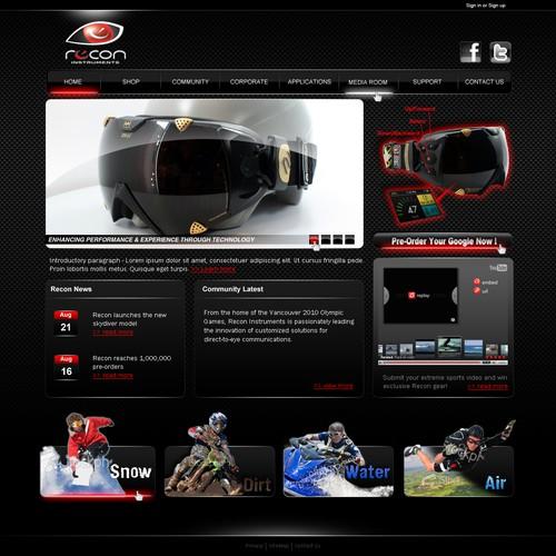 recon web page design