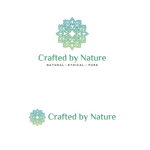 Logo for start-up: 100% natural skincare products Crafted by Nature