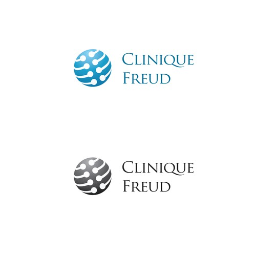 logo design for Clinique Freud (French version) or Freud Clinic (English version)