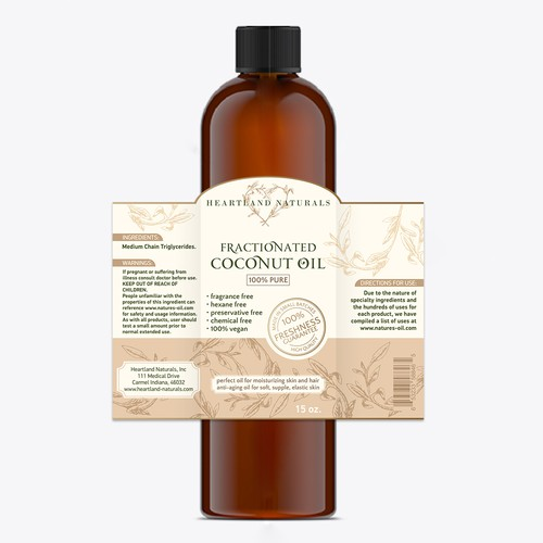 Coconut oil label