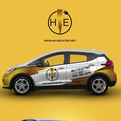 Car Wrap design for Hills Electric