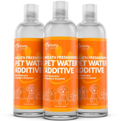 Pet Water Additive 3D Image for Zesty Paws