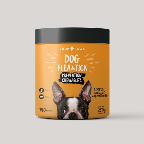 packaging label for pet supplement
