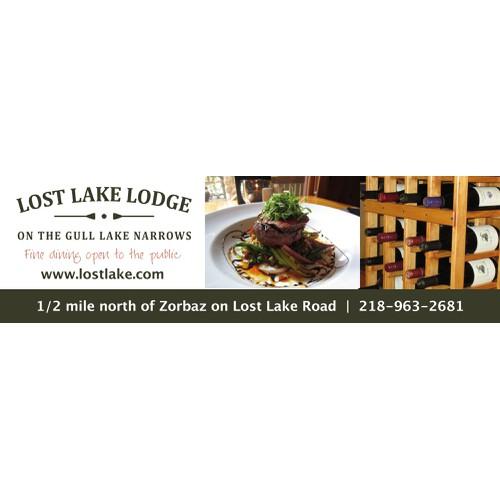 Design a 36' x 10.5' Billboard for Lost Lake Lodge