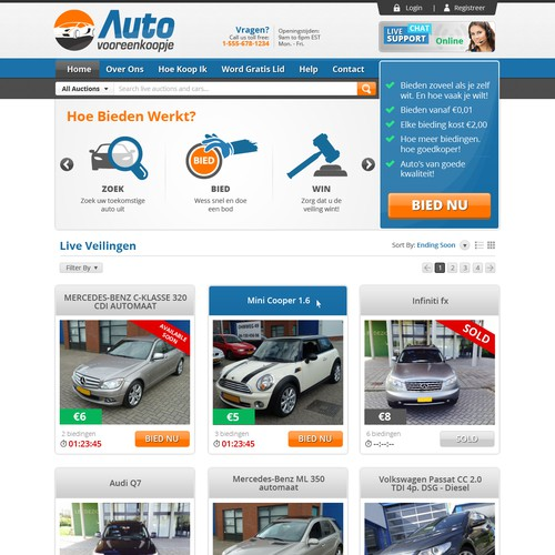 Auto Auction Design Needed.