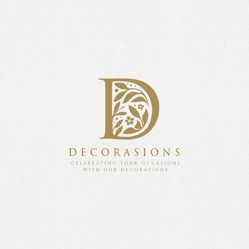 Logo for a special event decor agency. Their main decor are floral walls that are used for photo backdrops