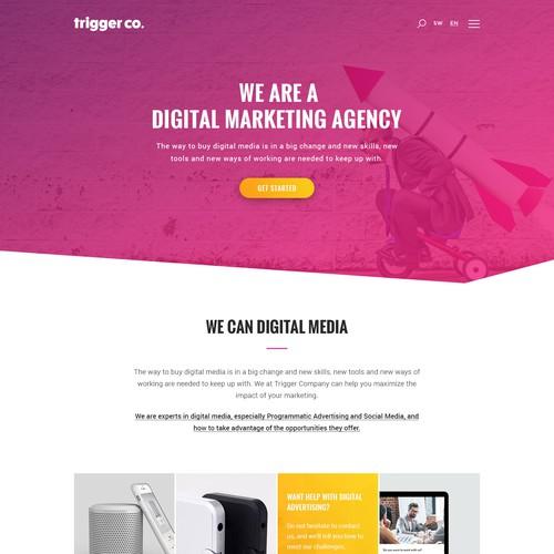 Trigger Co Digital Marketing Agency Website