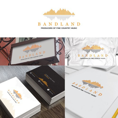 logo concept for bandland producers of fine country music