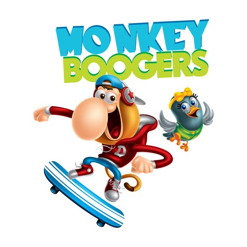 Character Design for New Animated TV Series - Monkey Boogers