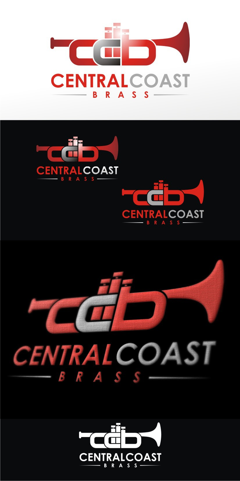 Create the next logo for Central Coast Brass