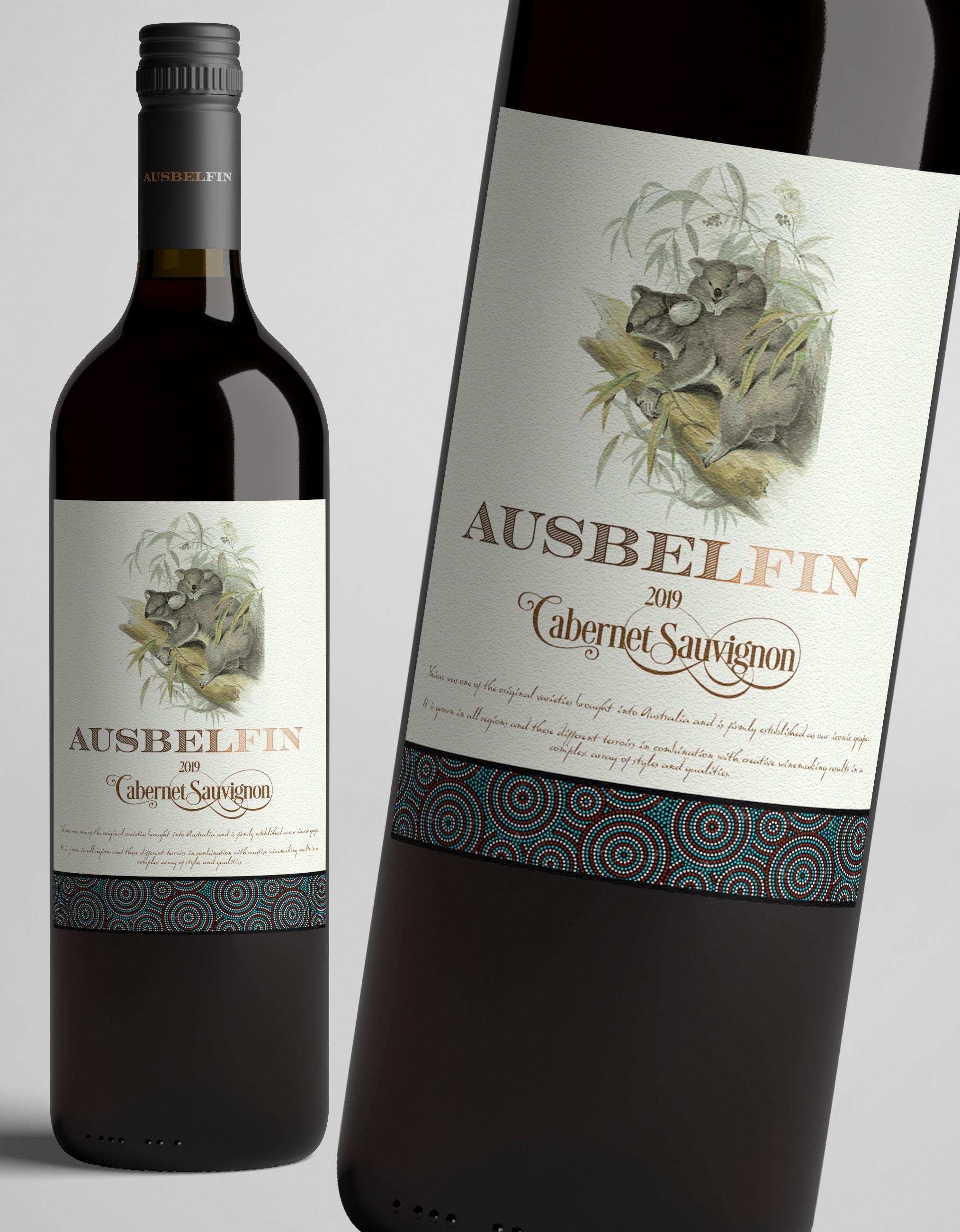 simple and elegant wine label