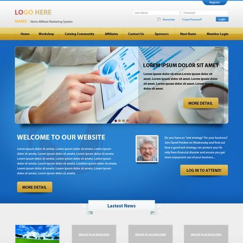 New website design wanted for MyNAMS.com