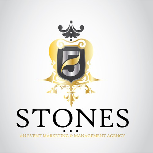 Classy and Luxury Logo For 5 Stones Agency