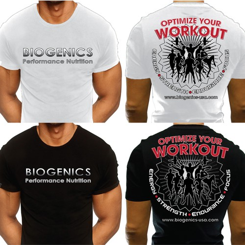 T-Shirt Design Needed-BIOGENICS PERFORMANCE NUTRITION