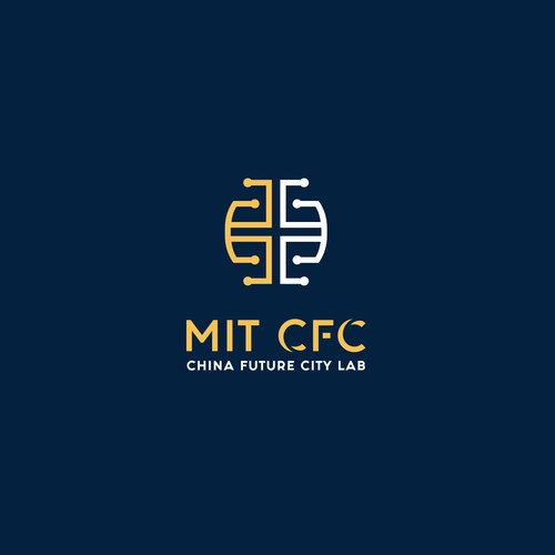 Abstract Brain Logo Concept for MIT CFC