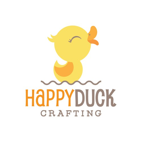 Logo design for Happy Duck Crafting -1-to-1 Project