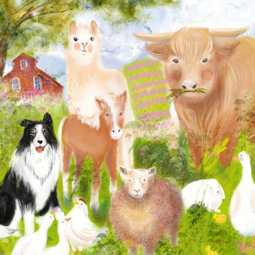 Painting for Farmyard Jigsaw Puzzle