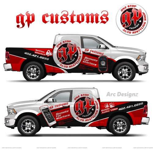 Truck wrap for GP customs