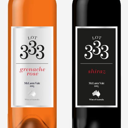 Redesign an existing wine label into a trendy and eye catching one