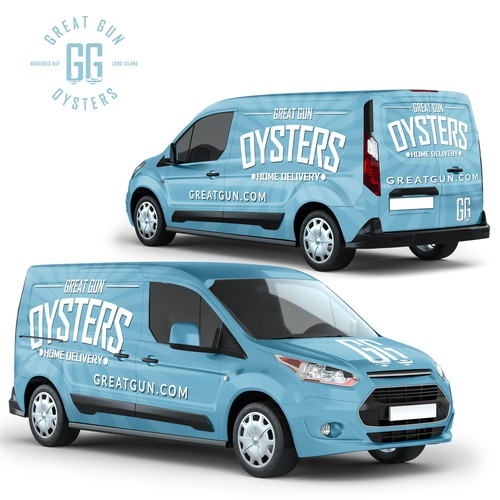 Full Van Wrap Design For Great Gun Oysters Company