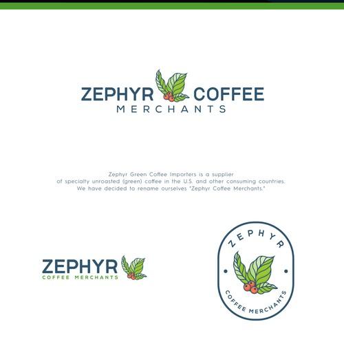 rebrand logo for zephyr coffee llc