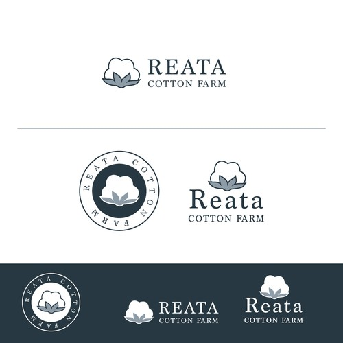 Cotton Farm logo for high quality and sustainablity