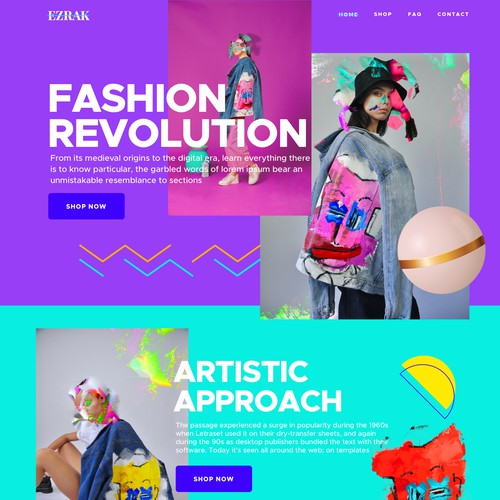 Fashion Artistic Web Design