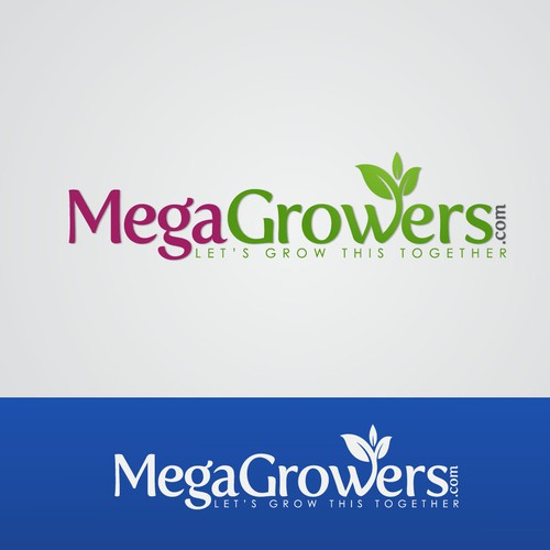 Create the next logo and business card for Megagrowers.com