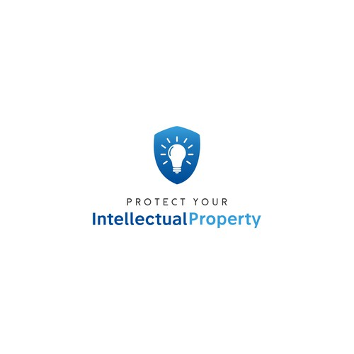 Modern Logo for Protect Your Intellectual Property Course