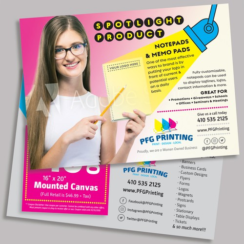 Postcard Promotion for Printing Business