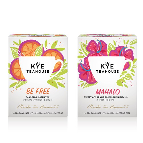 Hawaiian herbal tea redesign