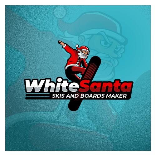 Logo for White Santa Skis and Boards Maker