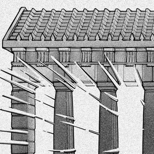 Greek Building Tattoo