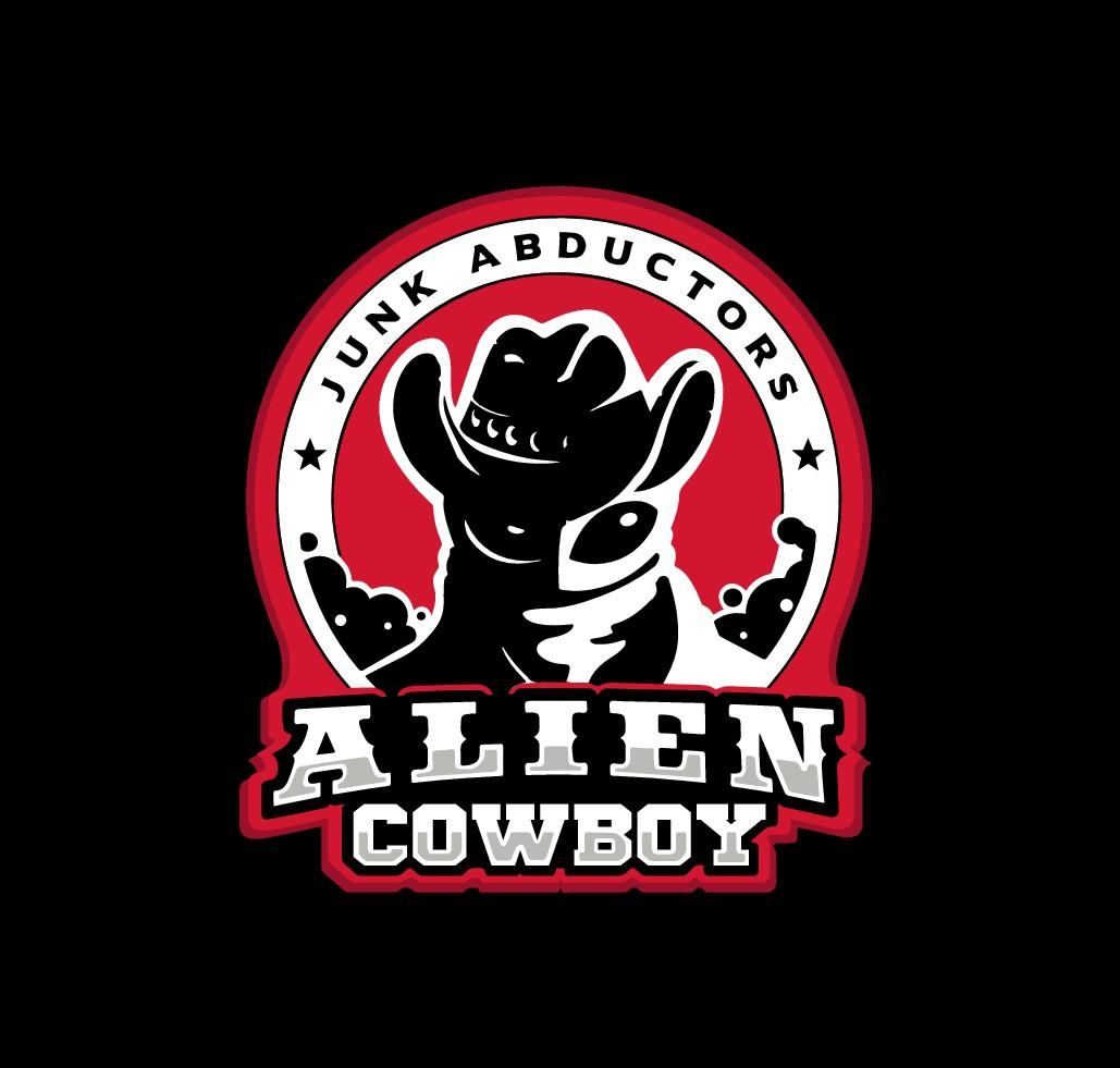 Fun logo design for an Alien Cowboy