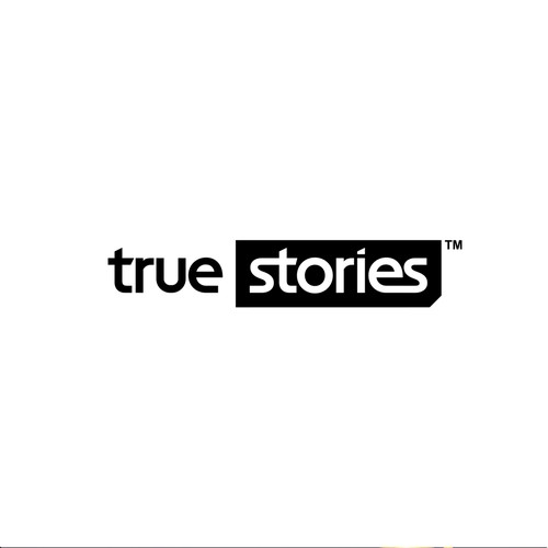 Youthful, easy to read in small size logo for True Stories