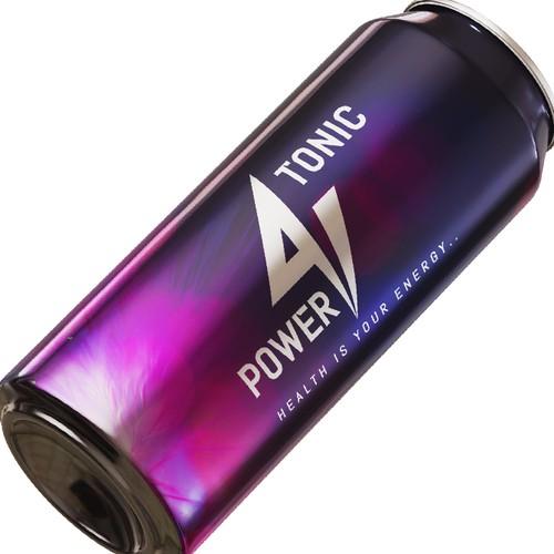 'Power 9 Tonic' Logo Design Concept
